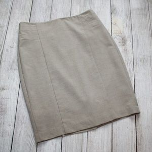 THE LIMITED Size 0 Beige / Tan Career Pencil Skirt